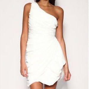 FOREVER UNIQUE Daisy white ruffle dress